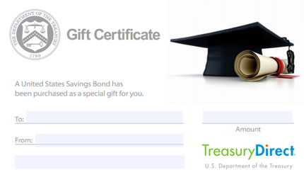 TreasuryDirect gift certificate